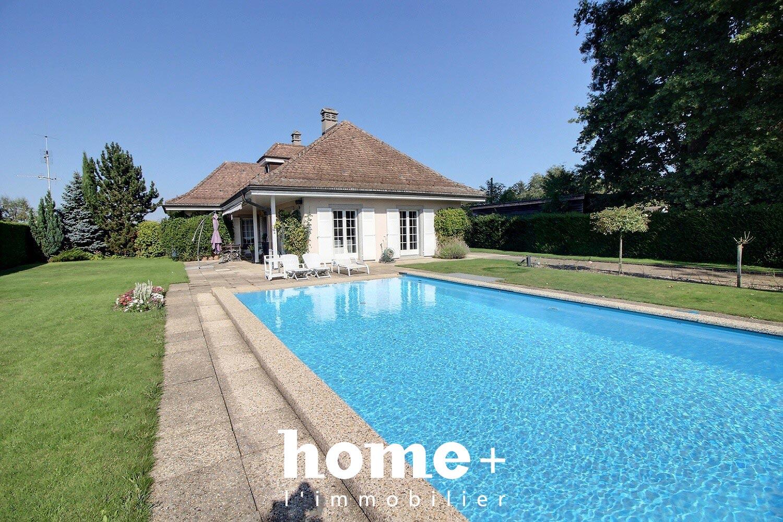 Genthod-Jolie maison individuelle sans vis-à-vis avec piscine + studio indépendant loué