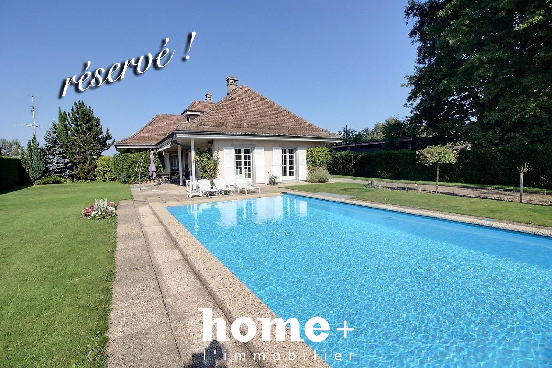 Genthod – Jolie maison individuelle sans vis-à-vis avec piscine + studio indépendant loué